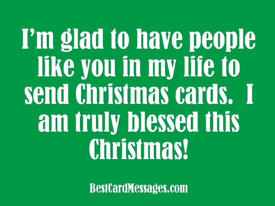 picture - Short Christmas Sayings For Cards