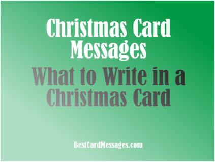 Holiday card messages m4hsunfo